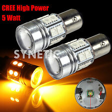 2x 1157 High Power Cree Amber Yellow Brake/Stop/Tail/Turn Signal LED Light Bulbs