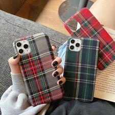 iPhone Case Lack Cotton Cloth Fabric Plaid Plush iPhone 11 Pro Max X XR 7 8 Plus