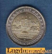 2 euro Commémo - Allemagne 2007 Chateau Schwerin D Munich Germany