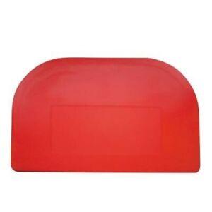Red Professional Dough Cutter Plastic Bowl Scraper 15 x 10 cm