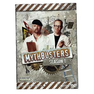 Mythbusters Season 1 DVD 4-Disc Set In Cardboard Slip Case Region 4 PAL