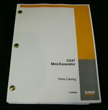 CASE CX47 Mini Excavator Parts Manual Book Catalog List
