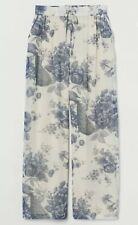 Sabyasachi X H&M Wide Chiffon Floral Trousers Cream Blue BNWT SIZE M SOLD OUT!