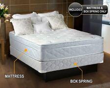 Natures Dream Plush Eurotop (Pillow Top) Queen Size Mattress and Box Spring Set