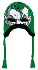 The Joker DC Comics Batman Adult Mask Peruvian Laplander Beanie Winter Hat