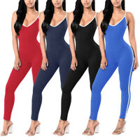 New Women Ladies Clubwear V-Neck Playsuit Bodycon Party Jumpsuit Romper T Gift