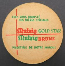 Sous-bock BIÈRE MUTZIG PILS Gold Star Brune ALSACE beermat coaster 17