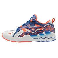 Mizuno WAVE RIDER 1 Men's Running Shoes Training White Blue Outdoor D1GA192522