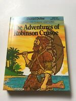 Vintage The Adventures of Robinson Crusoe Illustrated Classics pocket paperback