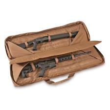 Tactical Double Gun Case Brown Range Rifle Gear Pack 42 Hand Pistol Revolver