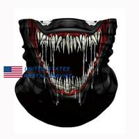 Unisex Biker Neck Gaiter Snood Headwear Tube Scarf Bandana Sun UV Protection