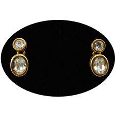 Swarovski orecchini donna a perno dorati con cristalli jeweler's collection