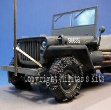 1/43 Accessoire MK35 A43-010 Roues avant équipées de chaînes pour Jeep Willys