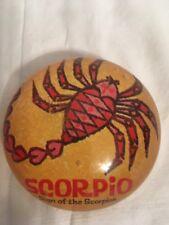 Vintage Resin Paperweight Scorpio