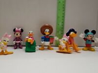 Vintage Lot Of 7 Disney Mickey Mouse Pvc Figures Toys Minnie Donald Duck