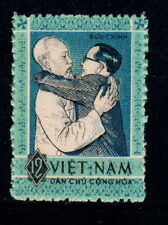 N.129-Vietnam- President Ho Chi Minh and Professor Nguyen Van Hieu -1963