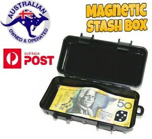 Magnetic Stash Magnet Safe Box Money Storage Secret Key Hidden GPS Compartment
