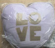 Pottery Barn Kids heart shaped decorative VELVET pillow LOVE purple lavender