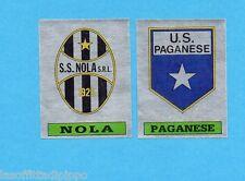 PANINI CALCIATORI 1985/86 -FIGURINA n.617- NOLA+PAGANESE -SCUDETTO-Rec