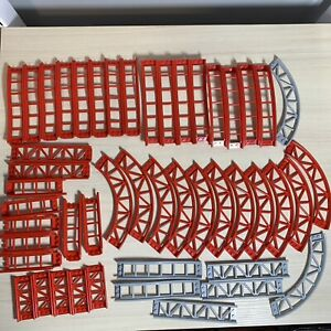 Red Lego Roller Coaster Track Rail from 10261 - 40+ Total Pieces + Grey Pieces