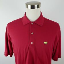 Augusta Golf Shop Mens 80s Two Ply Mercerized Cotton Ss Red Polo Shirt Large