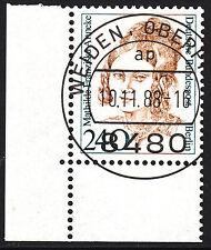 32) Berlin 240 Pf. Frauen  827 Eckrand Ecke 3 E3 EST Weiden mit Gummi selten!!