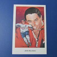 JEAN BELIVEAU  Montreal Canadiens 1983 Hall Of Fame postcard Cartophilium 4X6