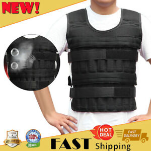 35KG Adjustable Workout Weight Weighted Vest Exercise Gym Training Fitness Black