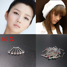 60X Wholesale Mixed Lot Color Rhinestone Nose Ring Studs Body Piercing Jewelr Bs