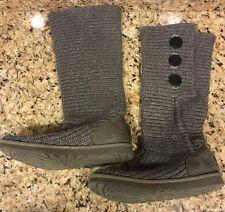 UGG S/N Classic Cardy Damen Strick Stiefel grau 5819 Größe US 9 EU 40