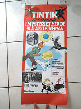 RARISSIME affiche Tintin Oranges bleues Années 70