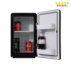Cristal 12V & 240V Portable Drinks Cooler Table Top Mini Fridge Chiller - Black