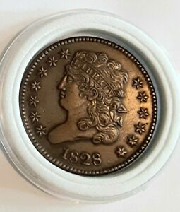 💥RARE 1828 Classic Head Half Cent 1/2cent low minted UNCIRCUlATED read item 💥