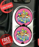 Disney SMALL WORLD Car Coasters Disney Inspired Car Coaster Cup Holders