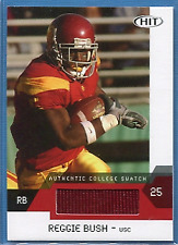 REGGIE BUSH ~ 2007 SAGE HIT Jersey Bonus Red #RBC USC College JERSEY SWATCH