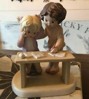 "VTG ENESCO Sisters & Best Friends Figurine Teacher ""A Friend Sticks By You When"""