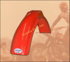 UFO Red Vintage Style Front Fender Moto Cross & Enduro (1975 - 1979)