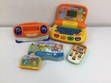 VTech V.Smile Baby + Tote n Go Laptop + Little Smart Phone Electronic Game TV