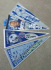 4 Dallas Cowboys Football Pennants Super Bowl XXVIII 1992 NFC Champ Emmitt Smith