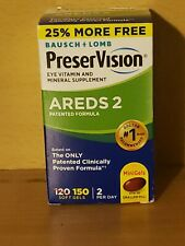 Bausch Lomb PreserVision AREDS 2 Formula 150 Soft Gels Exp 02/2022