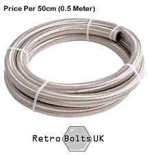 -3 AN Stainless Steel Braided Brake hose (per 50cm) MG, MGA, MGB GT, MGC, Midget