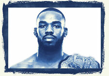 Lámina-Jon Jones UFC Light Heavyweight Fighter (Mma imagen de arte cartel)