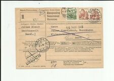 Schweiz / Mi.-Nr. 501 + 502 (2) auf R.-Einzugsauftrags-Brief v. Basel (retour)