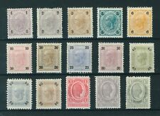 Austria 1899 Emperor Franz Josef I full set of stamps. Mint. No Varnish Bars.
