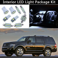 13PCS White LED Interior Car Lights Package kit Fit 2004-2013 Ford Expedition J1