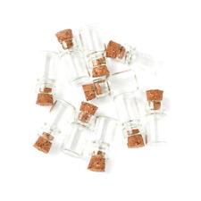 20pcs Clear Mini Glass Jars Wishing Bottles Vials with Cork Bead Storage 22x15mm