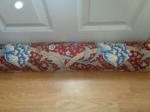 WILLIAM MORRIS FABRIC  WINDRUSH ONE DELUXE DRAUGHT EXCLUDER STUNNING !!