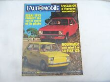 MAGAZINE L'AUTOMOBILE SPORT MECANIQUE n° 318 - NOVEMBRE 1972