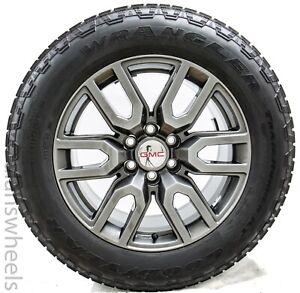 "4 NEW GMC Yukon XL Sierra Denali Carbon Gray 20"" Wheels Rims Gdy Tires 5914"