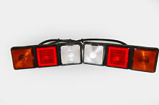Rubbolite 8003 LEFT and 8002 RIGHT Rear Lamp Module 12v Rear Lights - PAIR